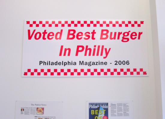 Wayne, PA: They love the burgers in Philly, too.