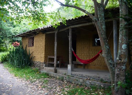 Rumi Wilco Ecolodge & Nature Reserve: exterior of adobe house #5, hammock shared with other house