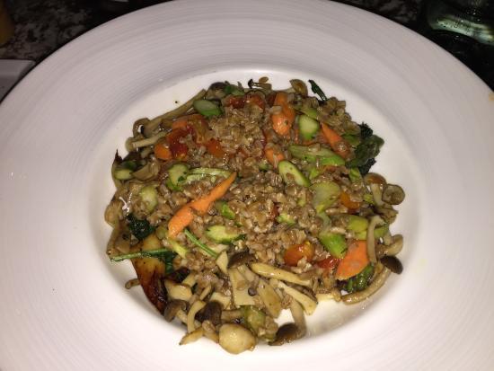 Terrazza: Amazing Vegan Dish with Three Mushrooms.