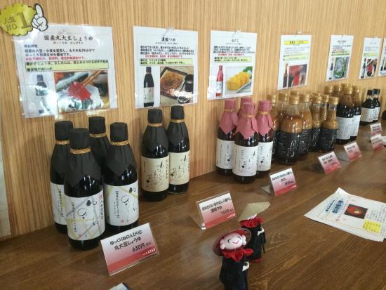 Rikuzentakata, Japan: 主力の醤油たち