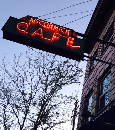 McCormick Cafe: This retro neon sign drew me right to this place.. Right across from the railroad tracks--it see