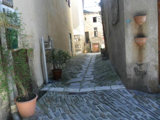 Hotel des Gorges du Tarn: rue piétonne de Florac