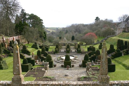 Mapperton Gardens: Looking down the valley