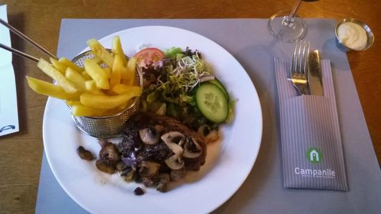 Campanile Rotterdam Oost : The well-done beef (a tip when taking a dinner here)