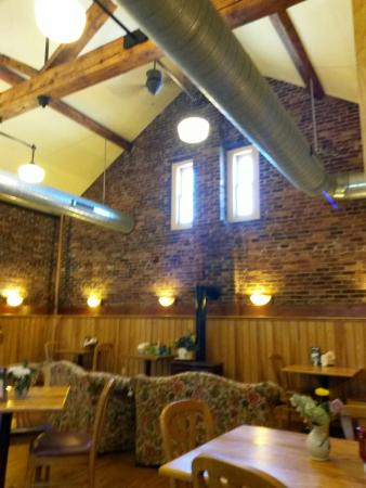 Randolph Depot: Upstairs at the depot. A great stop for breakfast while out on the motorcycle.