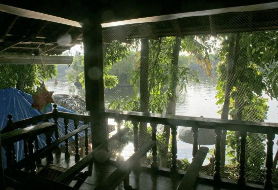Malayalam Lake Resort Homestay: View from room at sunrise