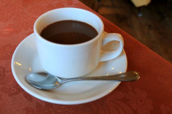 "The Peacock Garden: Old Heidelberg hot choco at breakfast: Heaven in a cup! ("",)"