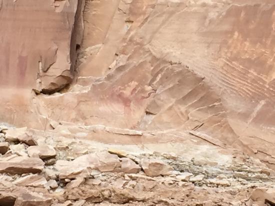 Black Dragon Canyon Trail: The dragon petroglyph in Black Dragon Wash.