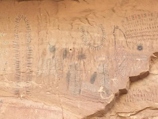 Black Dragon Canyon Trail: Petroglyphs in Black Dragon Wash.