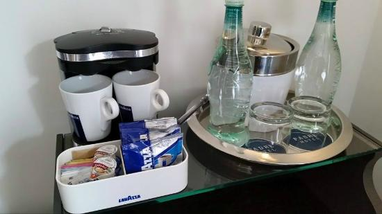 Padre Hotel: Upscale coffee and no-charge water