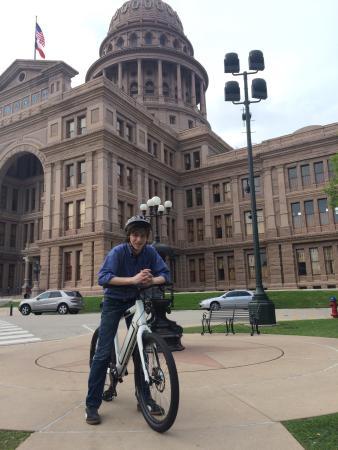 Stromer tour to the State Capital of Texas. A fun Austin tour by Gliding Revolution.
