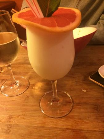 Coconut, pineapple and vodlka cocktail