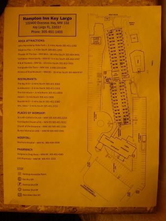 Hampton Inn Key Largo: hotel floor plan