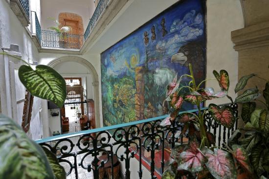 Mexico City Hostel: Balcones interiores