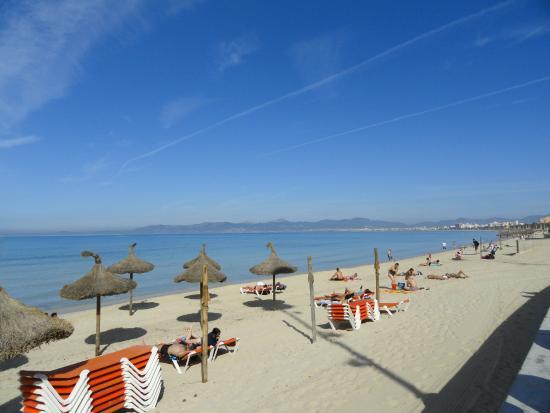 Playa de Palma, İspanya: Plage Aresnal 300m de l'hôtel