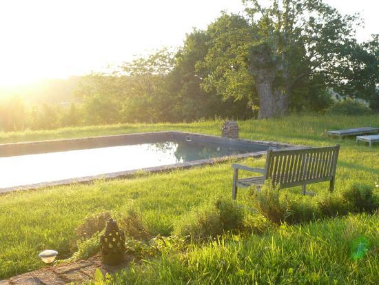 Saint-Georges-de-la-Couee, France: Farniente piscine en fin de journée