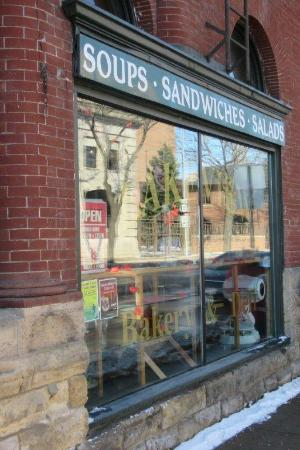 LAKEVIEW Bakery and Deli's window faces the lake