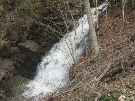 Pipestem State Park: Pipestem Falls lower falls