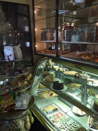 Cristina's: Display cases for Deli items, breads, desserts