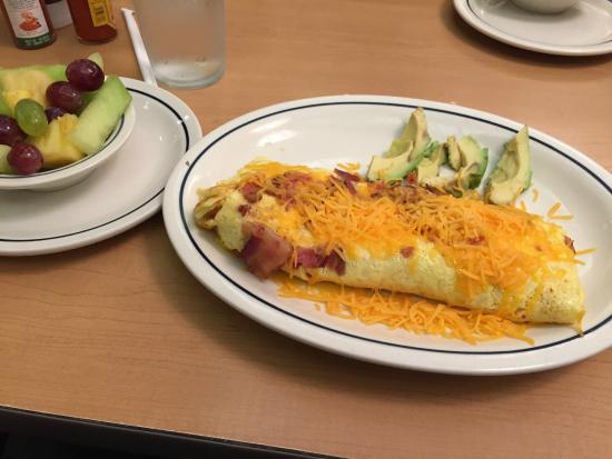 IHOP: Avocado, bacon and cheese omelette