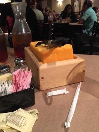 Giant Block Of Cheese A Free Appetizer Picture Of Barn Door