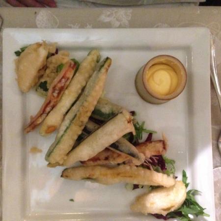 Trattoria Al Gran Sasso: vegetable tempura
