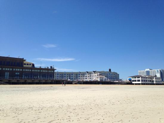 Long Branch, NJ: Looking at Pier Village from the beach.