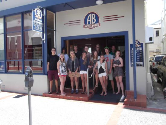 Archies Bunker Backpackers: farewell moment