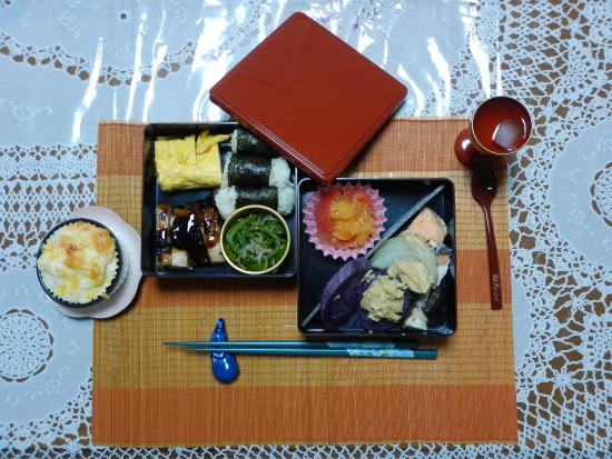 Japanese Cooking Experience with Yoshiko : Bento we've prepared for lunch with Yoshiko