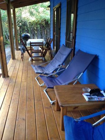 Cabanas Del Potrero: Cabaña azul: nuestra cabaña