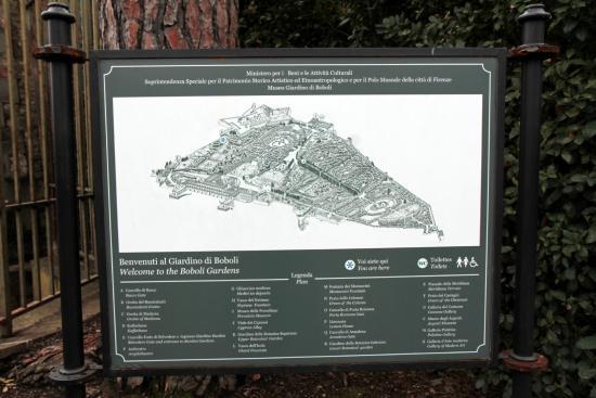 Boboli Gardens Map And Layout Picture Of Giardino Di Boboli