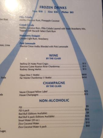Wet Republic: Drink menu3