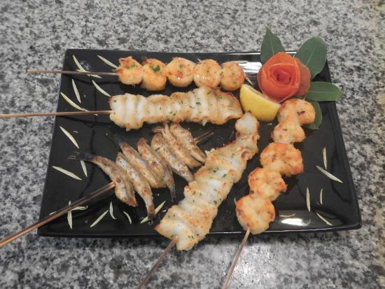 Griglia d'Oro: Spiedini misti di pesce