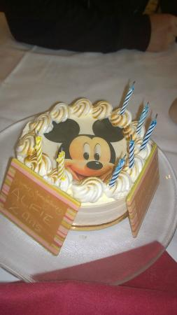 Birthday ice cream pavlova cake Picture of Inventions Disneyland