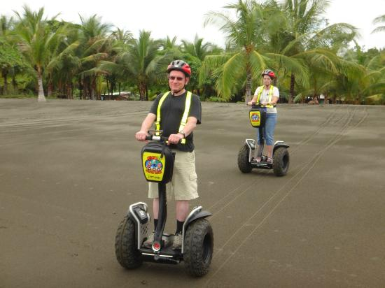 Segway Tours of Costa Rica: on the beach