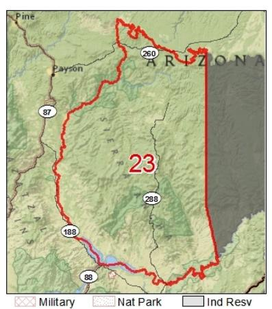 Map Of Young Arizona.Area 23 Map For Hunters Picture Of Young Arizona Tripadvisor