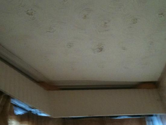 Adams Guest House: Marks on the ceiling - something wedged in between the pelmet that was bright orange?