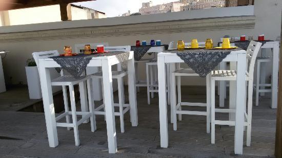 Marina di Castello : Colazione in terrazza sul porto
