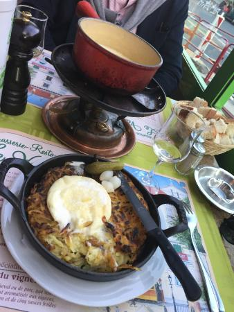 Brasserie Restaurant Le Vaudois: The rosti + fondue duo