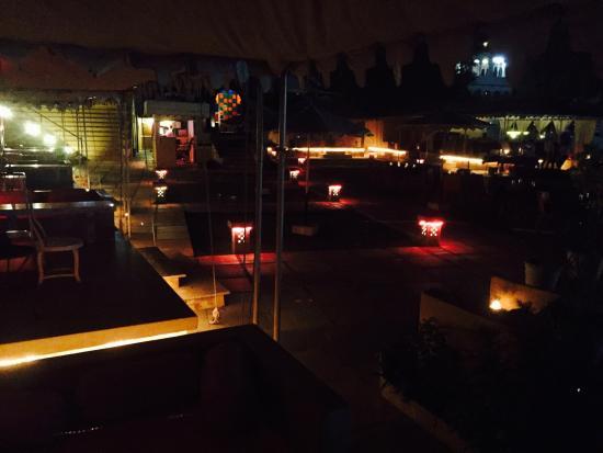 Raas Leela: Superb setting for a lovely romantic dinner !.