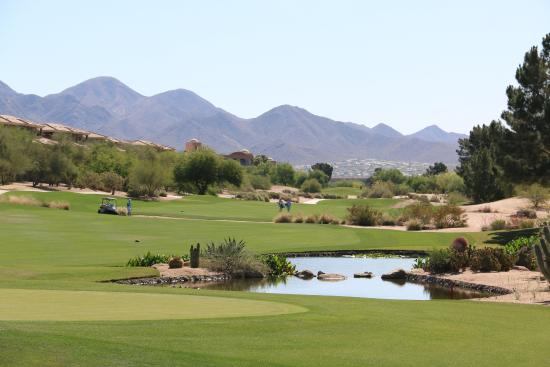 TPC Scottsdale - Champions Course: The 9th hole from the clubhouse