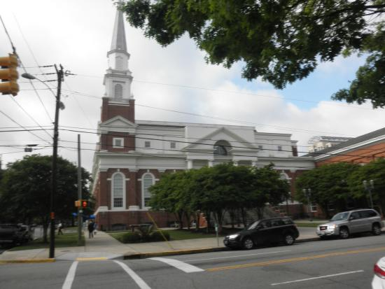 First Baptist Church: exterior of new sanctuary