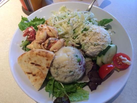 Zo S Kitchen Mediterranean Chicken Pleasing Chicken Salad Sampler  Picture Of Zoes Kitchen Newtown  Tripadvisor Inspiration Design