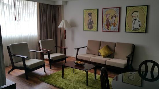 Hotel Vilar America : la sala de la habitacion