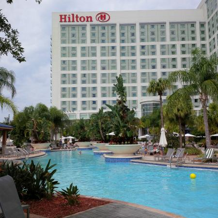 The view from my window at night picture of hilton for Pool show orlando 2015