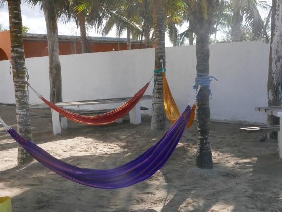 Hotel Casa Sol Isabela: Hammocks on the beach side