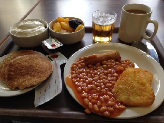 LSE Passfield Hall: Frukost (vegetarisk, men fanns kött också för den som gillar det).
