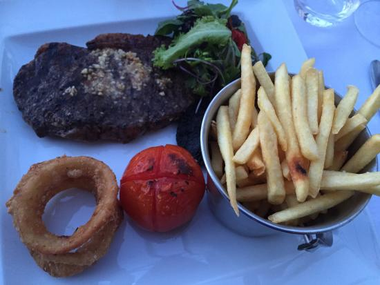 The Old Rectory Country Hotel and Golf Club: Sirloin steak