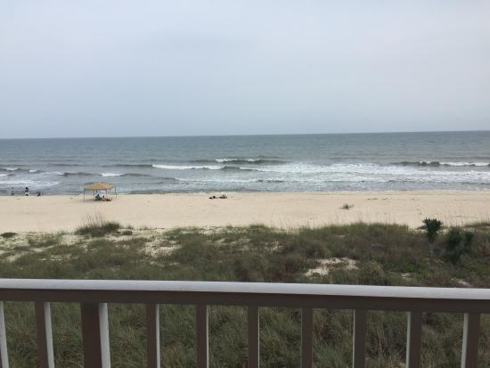 Buccaneer Inn : View from balcony of deluxe gulf view room.