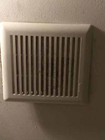 Filthy air vent in the bathroom